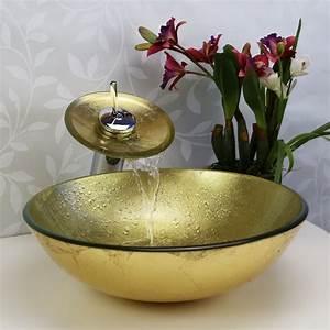 Waschbecken Glas Rund : design rund glas waschbecken set mit mischarmaturen und wasserablauf ~ Markanthonyermac.com Haus und Dekorationen