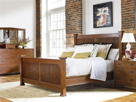 stickley bedroom furniture stickley prairie bed 13393 | traditional bedroom
