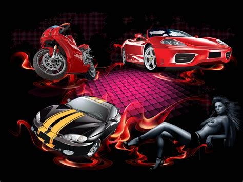Cars And Girl Desktop Wallpaper, Pictures Cars And Girl