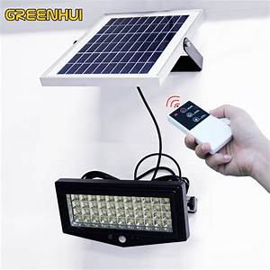 Solar Powered Remote Control Solar Light 44 Led Waterproof