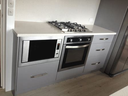 home kitchen furniture underbench microwave and oven mapara road taupo