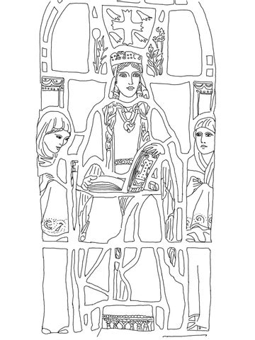 saint margaret  scotland coloring page supercoloringcom