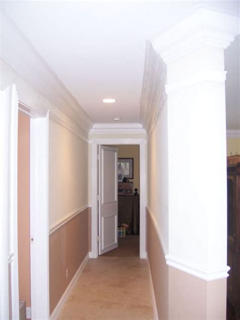 Crown Molding And Chair Rails In Hallway  Crown Molding