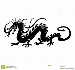 Chinese dragon stock vector. Illustration of evil, flame ...