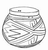 Coloring Pot Pottery Casas Grandes sketch template