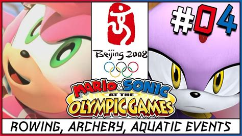mario  sonic    olympic games rowing archery