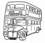 Bus London Coloring Decker Double Template Templates sketch template