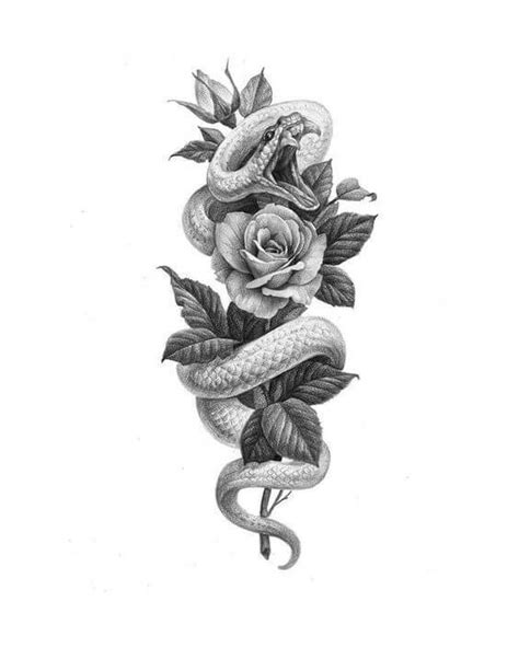 36+ Best Snake And Flower Tattoo Designs & Meanings   PetPress