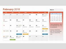 Monthly Calendar for 2018 PPT SlideModel