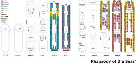rhapsody of the seas deck plans 2015 rhapsody of the seas בשביל הזהב