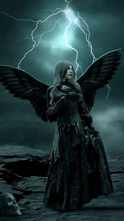 Angel Goth Dark Wallpapers Gothic Angels Fallen
