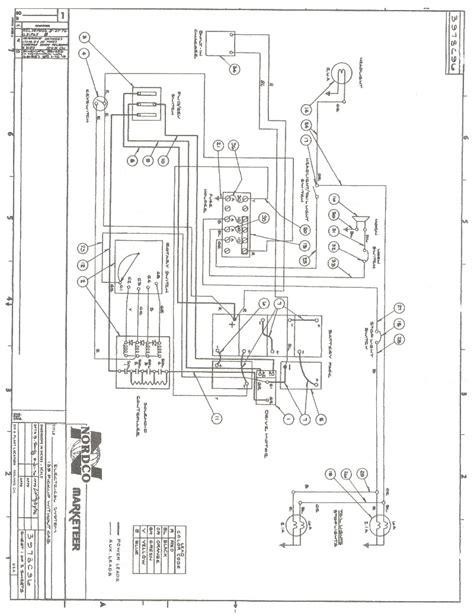 Wiring Cart Diagram Golf Ezgo Non Dc by Cartaholics Golf Cart Forum Gt Nordco Marketeer Wiring Diagram