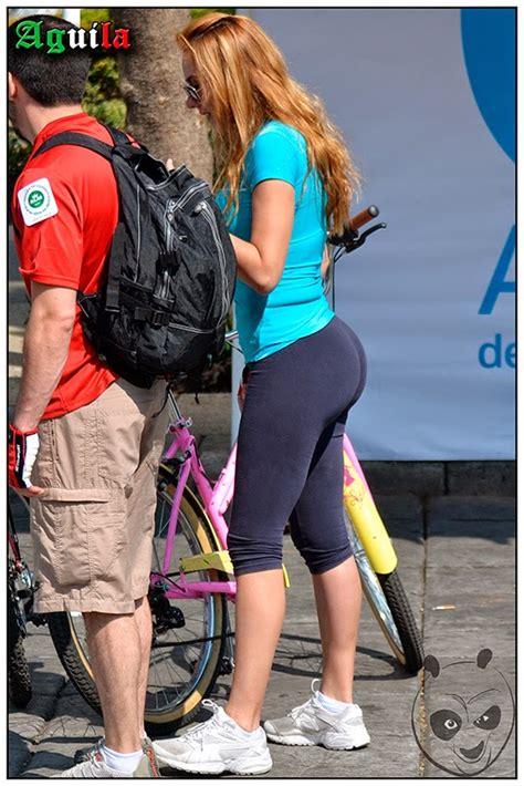 Amazing Ass Blonde In Lycras Divine Butts Candid Milfs