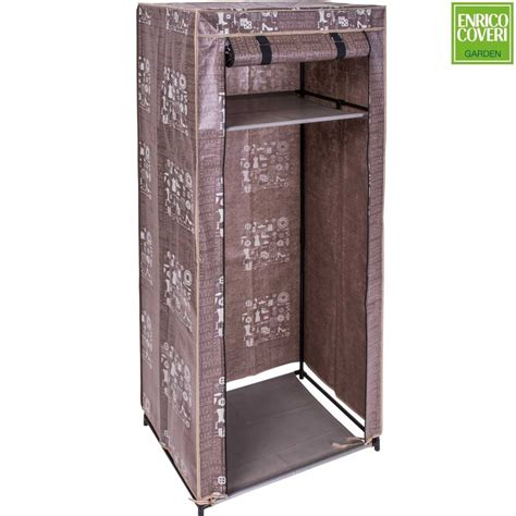 armadio guardaroba armadio salvaspazio guardaroba in tessuto tnt 61x46x148cm