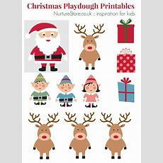 Father Christmas Puppet Printables For Playdough Nurturestore