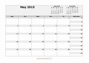 5 best images of month of may calendar printable free With 2015 calendar by month template