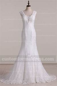 2017 mermaid wedding dresses v neck lace bridal gowns With lace wedding dresses 2017