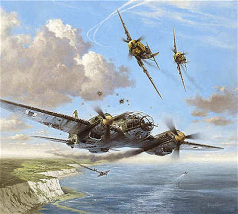 aviation art heinz krebs narrow escape