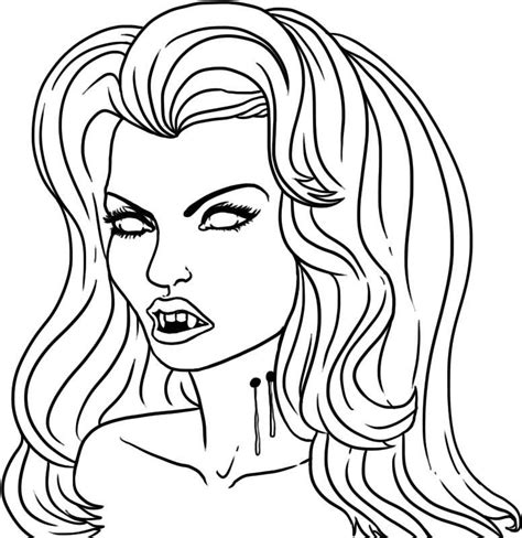 vampire girl coloring pages  printable