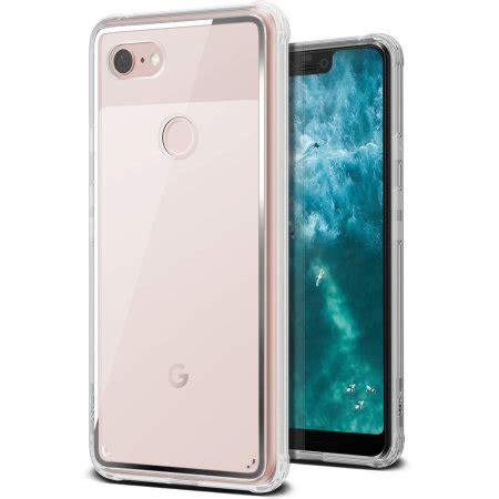 vrs design crystal chrome google pixel  xl case clear