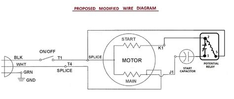 wiring diagram for start run capacitor start capacitor problem electrical diy chatroom home