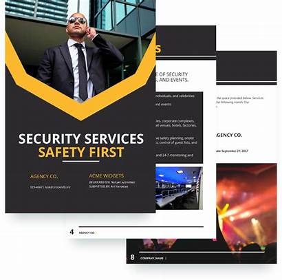 Proposal Security Template Services Business Professional Templates