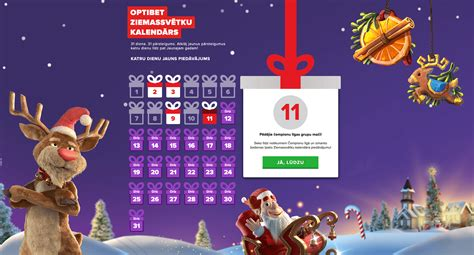 Ziemassvētku bonuss: Optibet adventes kalendārs | 24kazino