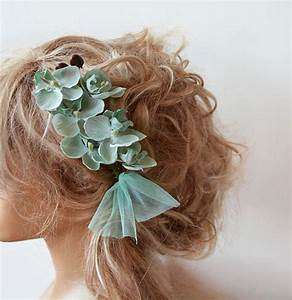 Green Hair Accessories For Weddings WRSNH