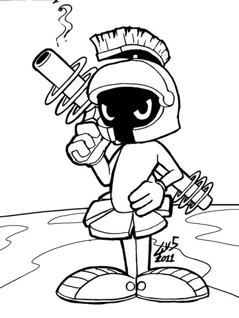 marvin  martian coloring pages coloring pages