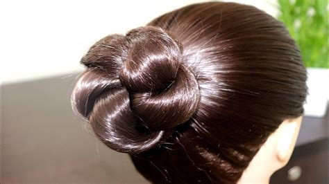 Simple & Easy Bun Hairstyle for Beginners Party
