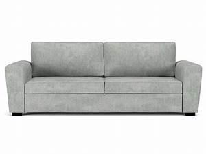 Canapé 3 2 Convertible : canap convertible 3 places en tissu faro coloris gris clair vente de canap droit conforama ~ Melissatoandfro.com Idées de Décoration