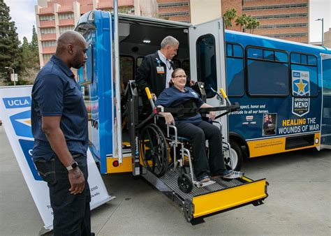 operation mend receives customized shuttle bus