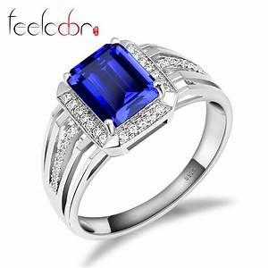 aliexpresscom buy gem stone jewelry blue sapphire With sapphire wedding rings for men