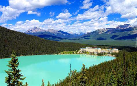 Kanada, Alberta, Park Narodowy Banff, Jezioro Louise, Góry ...