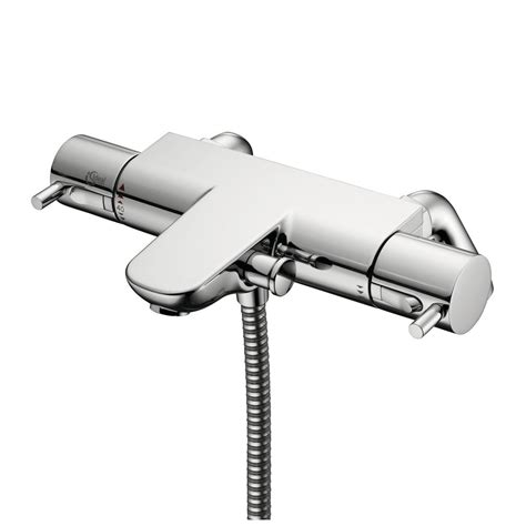 Thermostatic Bath Taps With Shower Mixer by Product Details A5638 Thermostatic Two Bath Shower