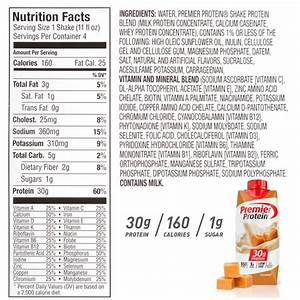 Premier Protein Shake Review Nutrition Facts