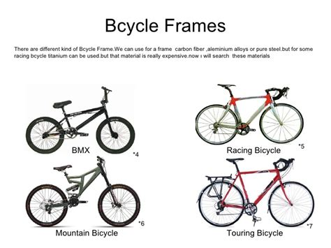 Material Selection For A Bicycle