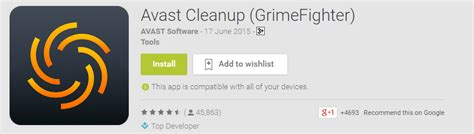 avast grimefighter cleans junk cache on android best 15 android apps of the month june 2015