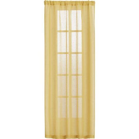 mustard sheer curtain panels crate and barrel