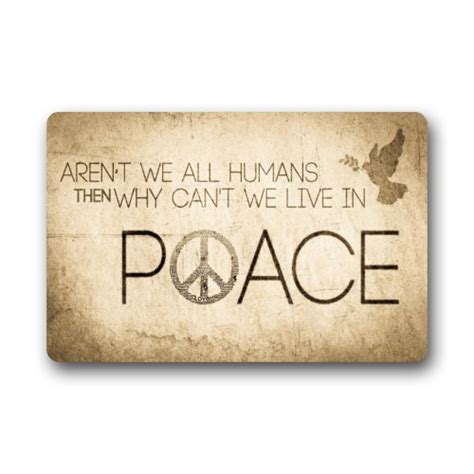 Peace Sign Doormat by Vintage Peace Sign With Saying Quotes Non