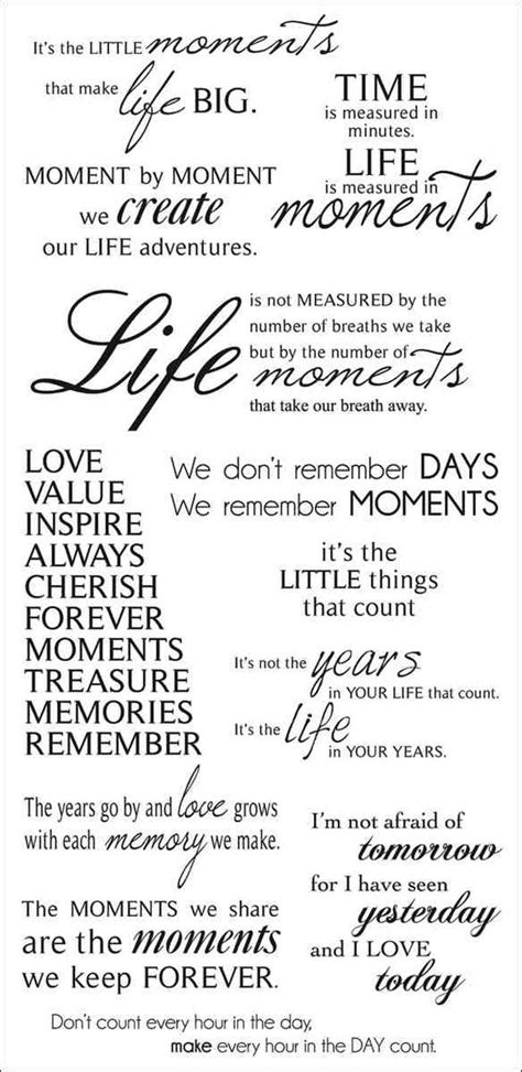 """""""Moments"""" Quotes for Scrapbook Pages – Scrap Booking"""