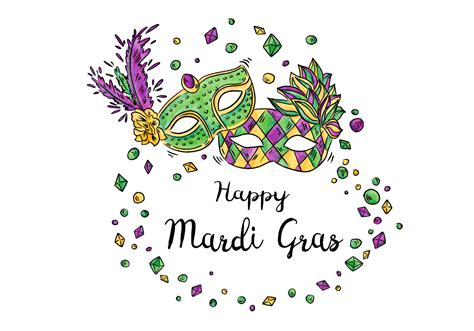 happy mardi gras festival design vector