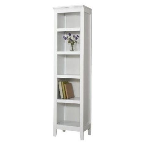 5 shelf narrow bookcase threshold carson narrow 5 shelf bookcase white target
