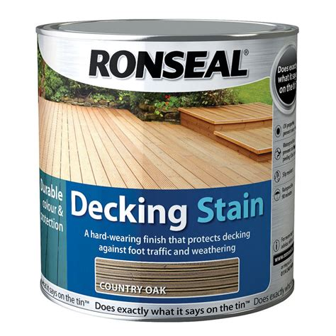 ronseal decking stain country oak exterior paint