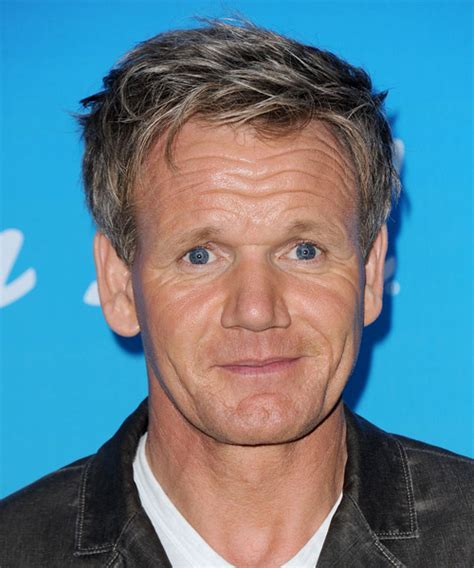 Gordon Ramsay Short Straight Casual Hairstyle