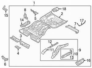 Ford Taurus Floor Pan Bracket  Rear  Support  Body  Rails