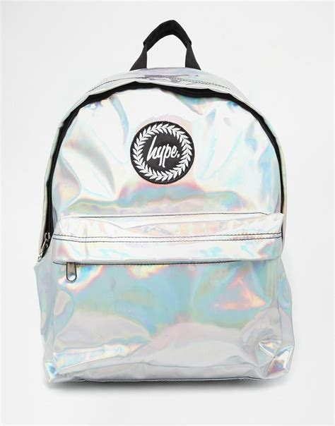 hype hype holographic backpack  asos aweetgiya