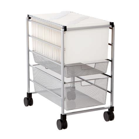 File Carts   Platinum Elfa Mesh File Carts   The Container