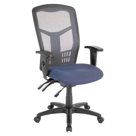 classroom select executive swivel task chair blue fabric