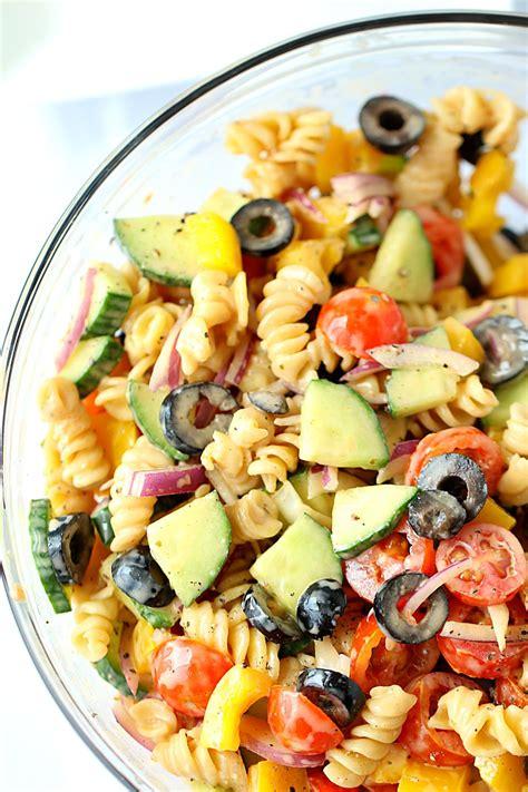 healthy pasta salad no cook healthy pasta salad healthy veggie pasta salad